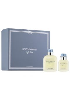Dolce & Gabanna Light Blue Pour Homme Men's 2 Piece Gift Set
