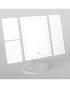 24 LED Lights Tri-Fold Mirror