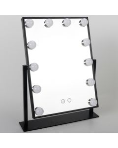 12 LED Bulb Metal Mirror