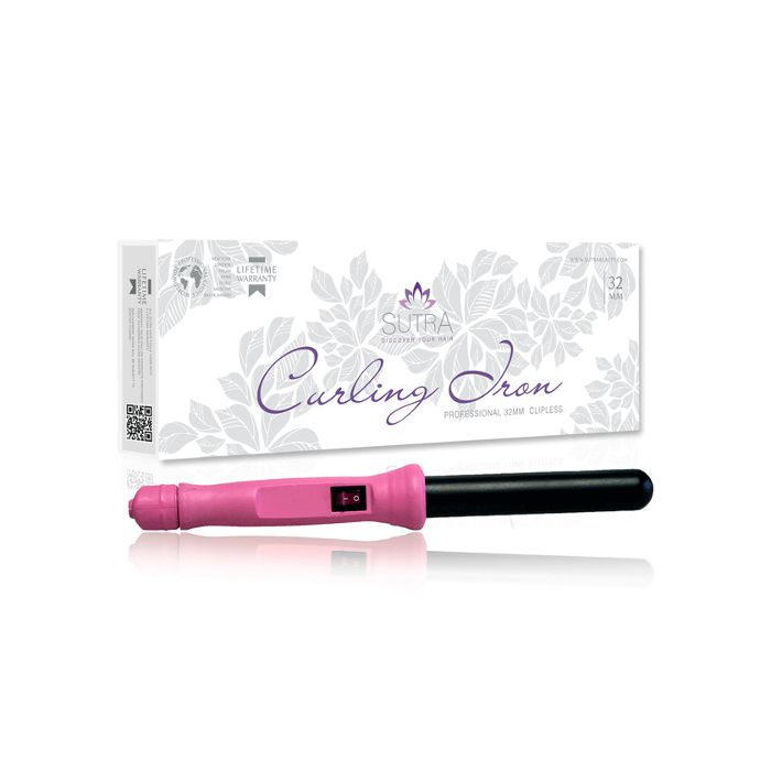 Sutra Beauty 32mm Clipless Ceramic Curling Iron - Pink