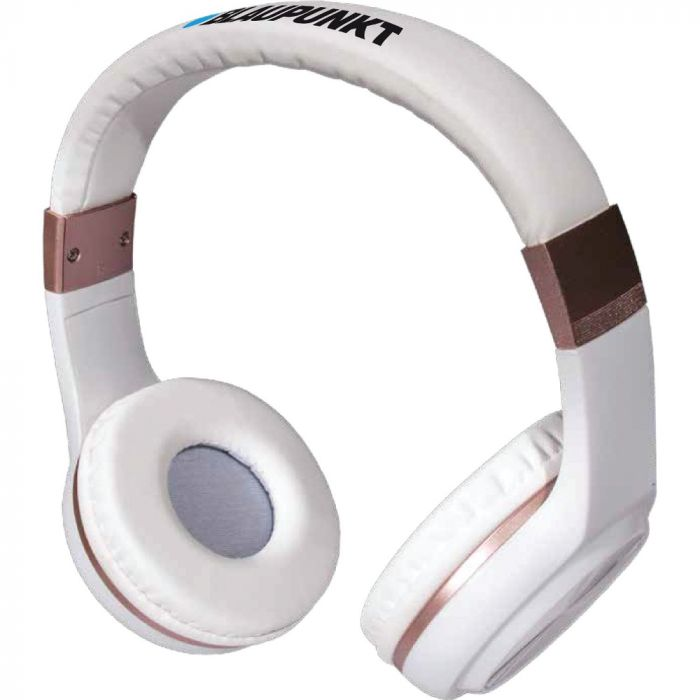 Blaupunkt Bluetooth Over-the-Ear Headphones with Microphone - White
