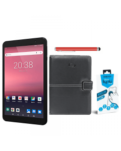 "Evoo Table Bundle: Evoo 8"" Tablet 16GB + Summit Tablet Case + Screen Protector + Belkin Stylus"