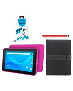 "Ematic Tablet Bundle: Ematic EGQ380PN Quad Core 7"" + Solo Metro Universal 5.5 Case + Gadget Guard Black Ice Liquid Screen Protector + Belkin Universal Tablet Stylus"