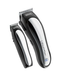 Wahl Lithium Ion Pro Hair Clipper and Trimmer Kit - Silver/Black