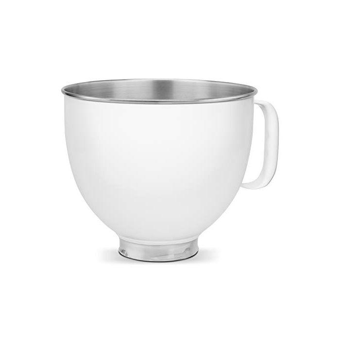 KitchenAid KSM5SSBWH Custom Stand Mixer Bowl - 5 quart - White Painted Stainless Steel