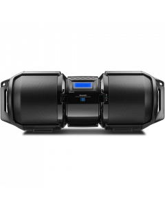 Sharp Portable Bluetooth Boom Box including Bass Boost with X-Bass - Black