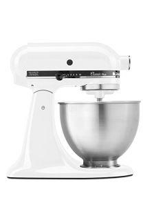 KitchenAid KSM75WH Classic Plus Series 4.5-Quart Tilt-Head Stand Mixer - White