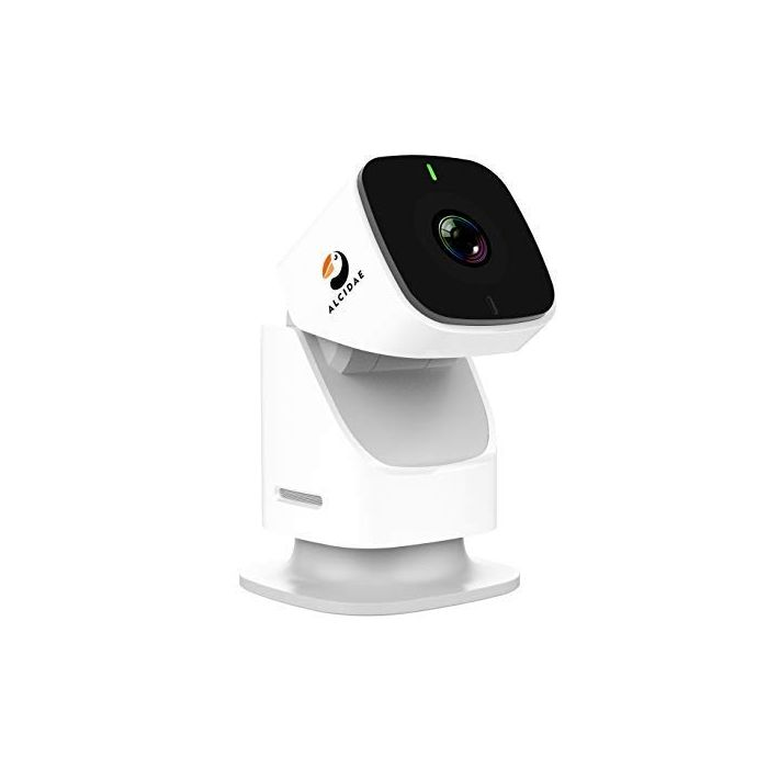 Alcidae Tracer 1080P 360 Degree Endless Rotation Motion Tracking Cloud Cam, Night Vision, 2 Way Audio, Smart Motion/Sound Alerts, Full Room Scan