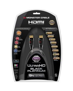 Monster Black Platinum Series 9' In-Wall HDMI A/V Cable