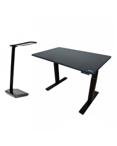 Uncaged Ergonomics Adjustable Standing Desk + Vibe Wireless Charging LED Desk Lamp