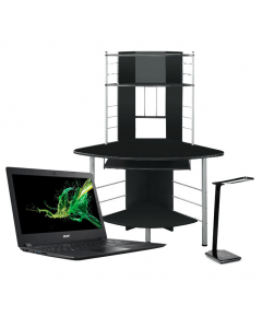 Acer Notebook PC Bundle: Acer Aspire 3 A3142146ZX Notebook PC + Corner Desk + Vibe Wireless Charging LED