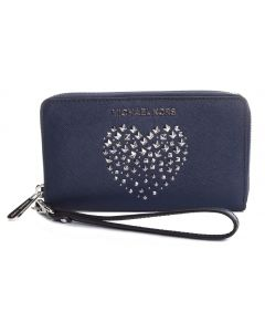 Michael Kors Giftable Large Flat Phone Wallet - Navy