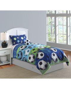 Hallmart Kids 3-Piece Soccer Comforter Set - Twin