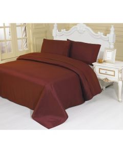 4PC Queen Set Burgandy Linen Sheets