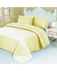 4PC Queen Set Cream Linen Sheets