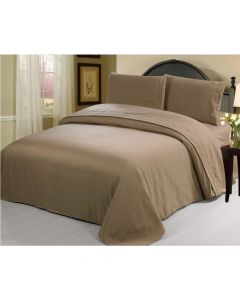 4PC Queen Set Taupe Linen Sheets