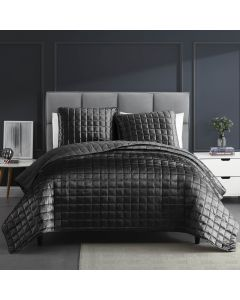 Lyndon Graphite Quilt Set 3Pc Queen