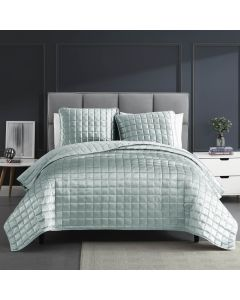 Lyndon Seafoam Quilt Set 3 Piece King