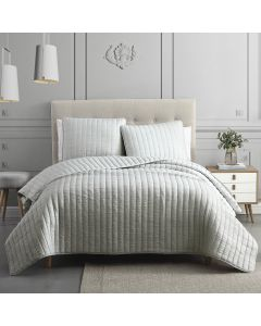 Moonstone Light Gray Quilt Set 3 Piece King