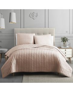 Moonstone 3 Piece King Coverlet Set - Blush