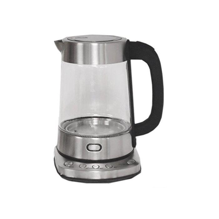 Nesco Gwk-03D - Electric Glass Water Kettle - Stainless Steel - 1.8 Quart - 1500 Watts