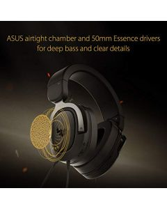 ASUS TUF H3 Gaming Headset H3 - Discord - TeamSpeak Certified |7.1 Surround Sound | Gaming Headphones with Boom Microphone for PC - Playstation 4 - Nintendo Switch - Xbox One - Mobile Devices