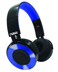 NAXA Electronics NE-974 Blue Metro Bluetooth Headphones - Blue