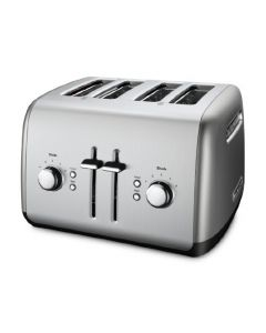 KitchenAid 4-Slice Toaster KMT4115CU with Manual High-Lift Lever - Contour Silver