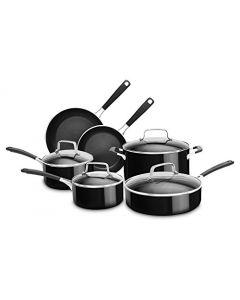KitchenAid KC2AS10OB 10 Piece Aluminum Nonstick Set - Onyx Black - Large