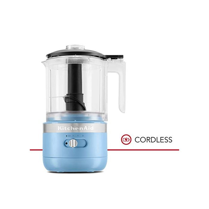 KitchenAid KFCB519VB Cordless Chopper - 5 cup - Blue Velvet