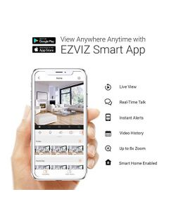 EZVIZ Security Camera Outdoor 1080P WiFi, 100ft Night Vision, Weatherproof, Smart Motion Detection Zone, 2.4GHz WiFi Only(C3WN)