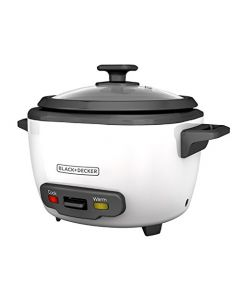Black+Decker 16-Cup Cooked/8-Cup Uncooked Rice Cooker And Food Steamer - White - Rc516