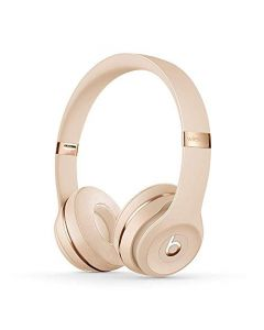 Beats Solo3 Wireless On- Ear Headphones -  Apple W1 Headphone Chip, Class 1 Bluetooth, 40 Hours Of Listening Time -  Satin Gold - Latest Model