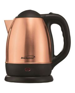 Brentwood Cordless Electric Kettle Stainless Steel - 1.2L - Rose Gold