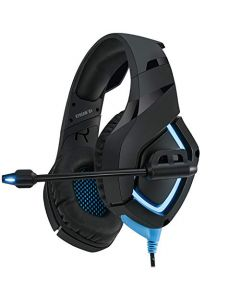 Adesso Xtream G1 - Gaming Headphones with Noise Cancelling Microphone and LED Lighting for PC - PS4 - Xbox - Nintendo Switch - and Laptops - Black