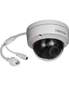 TRENDnet Indoor/Outdoor 8MP 4K H.265 120dB WDR PoE Dome Network Camera, TV-IP1319PI, IP67 Weather Rated Housing, Smart Covert IR Night Vision up to 30m (98 ft.), microSD Card Slot