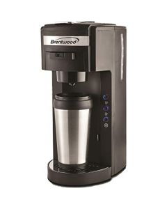 Brentwood Coffee Maker With Travel Mug - K-Cup Single Serve - Black