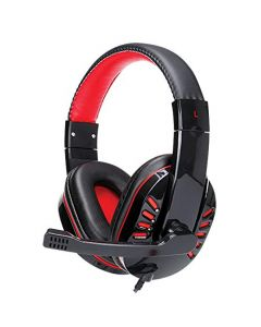 Supersonic Gaming Headphones W/ MIC for PC - Laptops - PS4 - Xbox One - Nintendo Wii U& More Black/Red  - IQ-450G