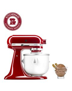 KitchenAid KICA0WH Ice Cream Maker Attachment - Excludes 7 - 8 - and most 6 Quart Models