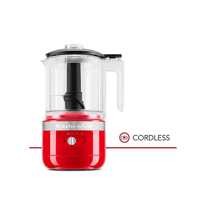 KitchenAid KFCB519PA Cordless Chopper - 5 cup - Passion Red
