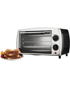 Brentwood Toaster Oven Stainless Steel - 4-Slice - Black