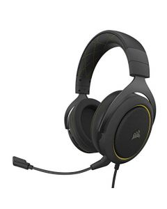 Corsair HS60 Pro - 7.1 Virtual Surround Sound PC Gaming Headset w/USB DAC - Discord Certified Headphones - Compatible with Xbox One - PS4 - and Nintendo Switch - Yellow