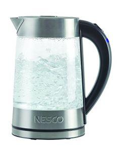 Nesco Gwk-02 - Electric Glass Water Kettle - Gray - 1.8 Quart