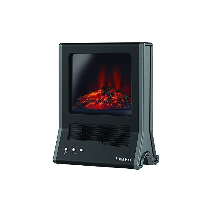 Lasko CA20100 Ultra Ceramic Fireplace Heater - Black