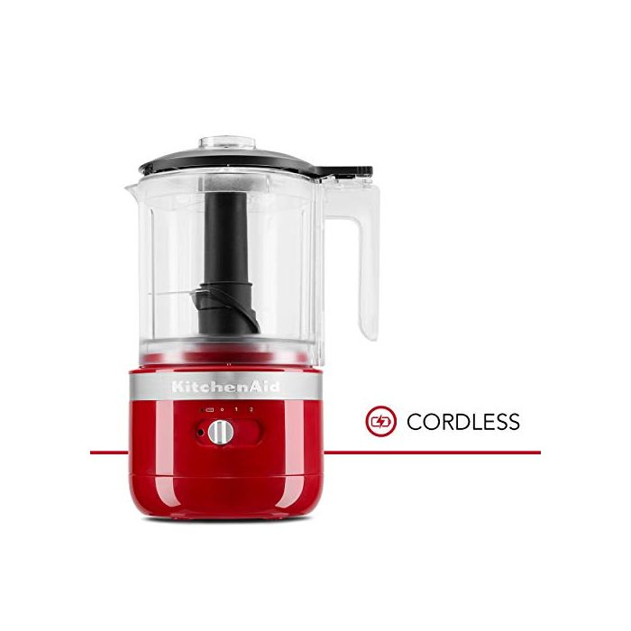 KitchenAid KFCB519ER Cordless Chopper - 5 cup - Empire Red