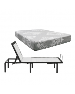 Silver Rest Topaz Mattress with Suave Adjustable Base - Queen