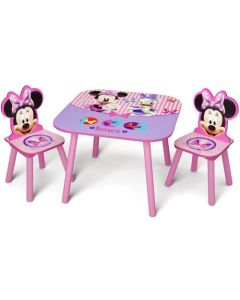 Disney Minnie Mouse 3 Piece Table and Chair Set