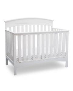 Delta Children Bennington Elite 4-in-1 Convertible Baby Crib - White Arched