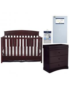 Sutton Crip / Dresser / Toddler Mattress / Mattress Pad