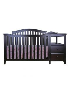 Kali 4 in 1 Convertible Crib and Changer Espresso